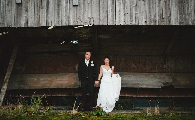 Zara & Dave // Larchfield Barn Wedding