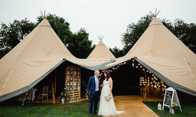 Michelle & Colm // Tipi Wedding // Slane