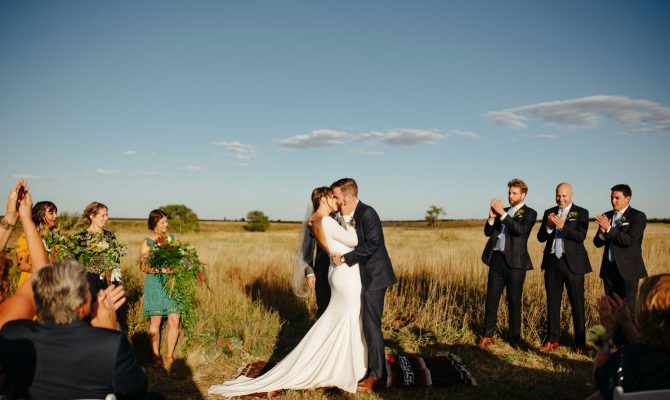 Audrey & Jesse // Outdoor Barn Wedding // Haxtun, Colorado