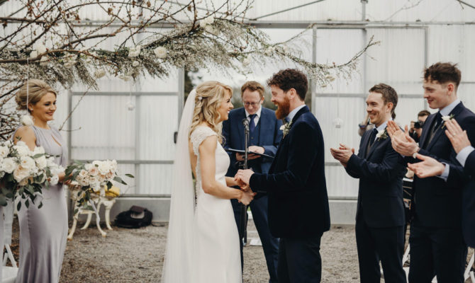 Greenhouse Wedding // Virginia Park Lodge // Lyndsey & Damien
