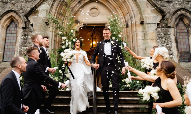 Stephanie & Jamie // Glamorous Winter Wedding // Castle Leslie