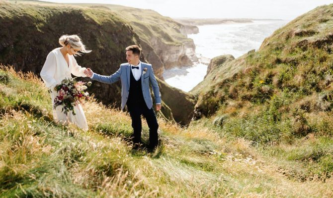 Joanna & Andrew // North Coast Cliffside Wedding // N.Ireland